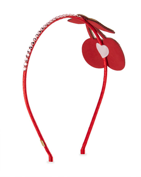 Girls' Crystal Cherry Headband