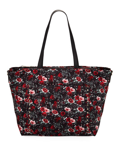 Logan Floral Nylon Baby Bag