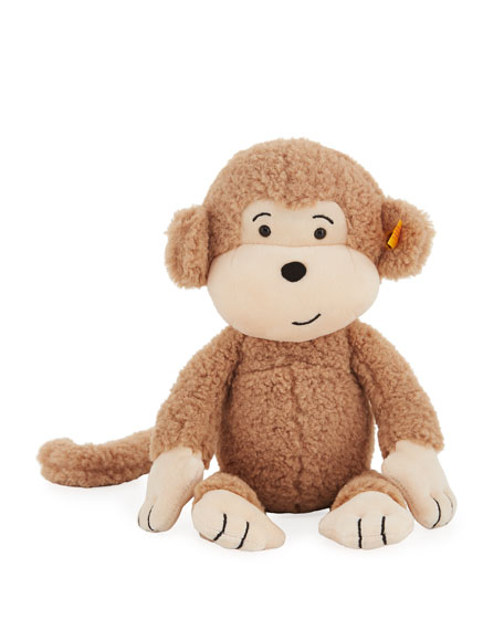 Steiff Brownie Stuffed Animal Monkey, 12
