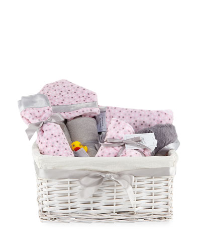Alex Dot Plush Gift Basket, Pink