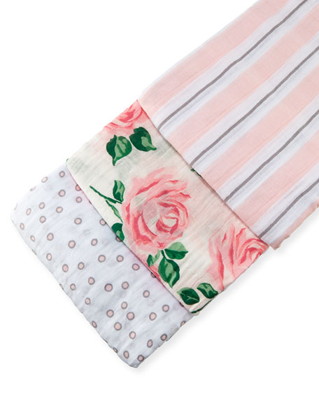 3-Piece Swaddle Blanket Box Set