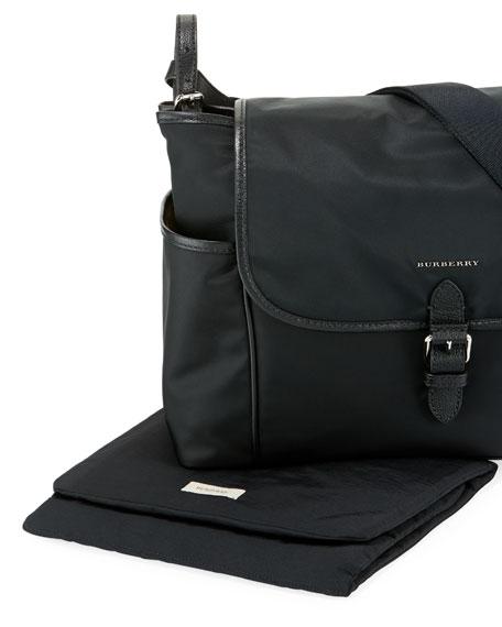 Nylon Flap-Top Diaper Bag