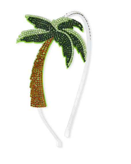 Bari Lynn Girls' Crystal Palm Tree Headband