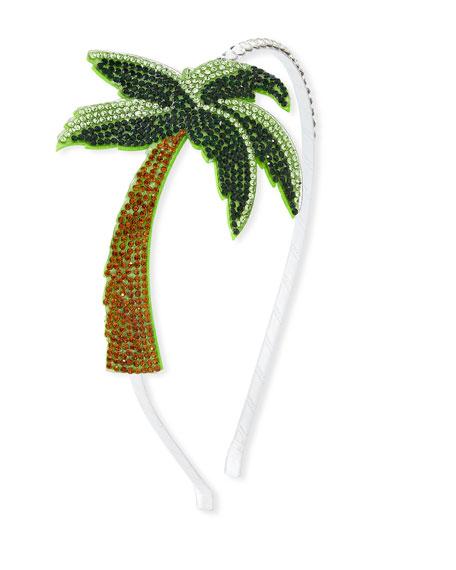 Girls' Crystal Palm Tree Headband