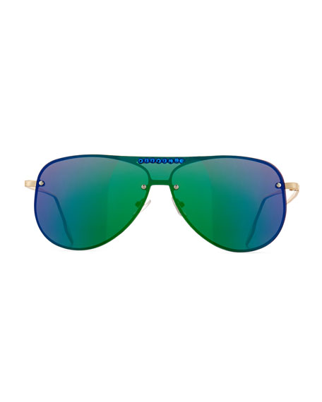 Girls' Rainbow Mirrored Aviator Sunglasses