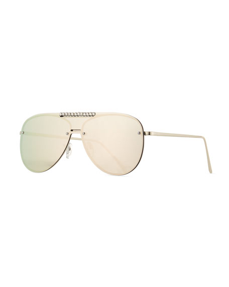 Bari Lynn Girls' Mirrored Aviator Sunglasses