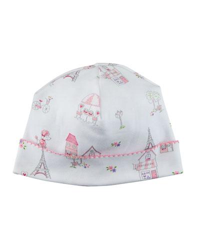 Parisian Stroll Printed Baby Hat