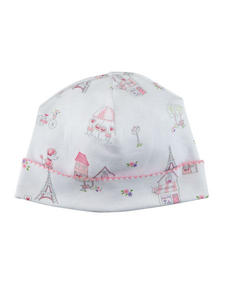 Kissy Kissy Parisian Stroll Printed Baby Hat