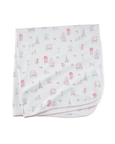 Parisian Stroll Pima Baby Blanket