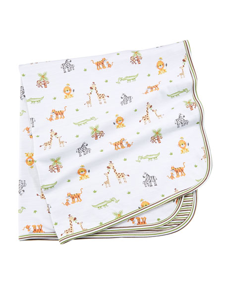 Kissy Kissy Jolly Jungle Printed Pima Baby Blanket