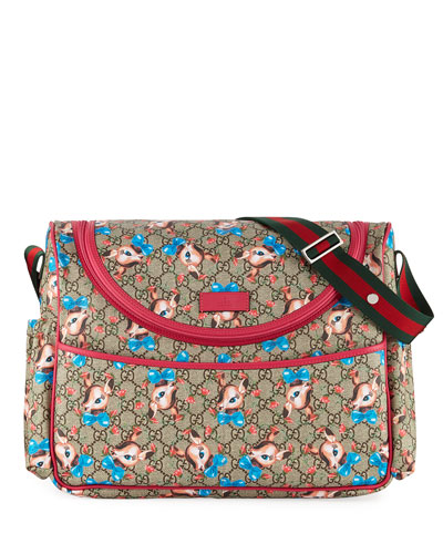 Kids' GG Supreme Fawns Print Shoulder Bag