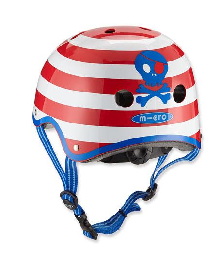 Kids' Micro Pirate Stripe Helmet