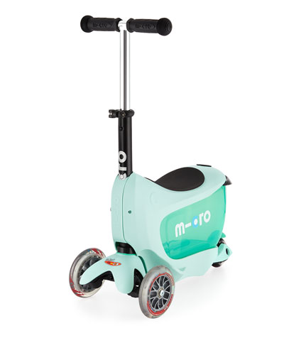 Mini 2GO Deluxe Ride-On & Scooter, Mint