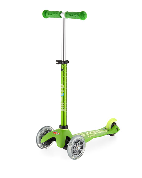 Micro Kickboard Mini Deluxe Light-Up Scooter, Green
