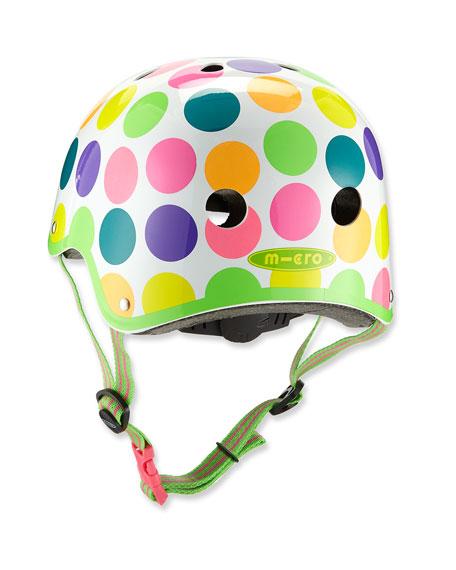 Kids' Micro Polka-Dot Helmet