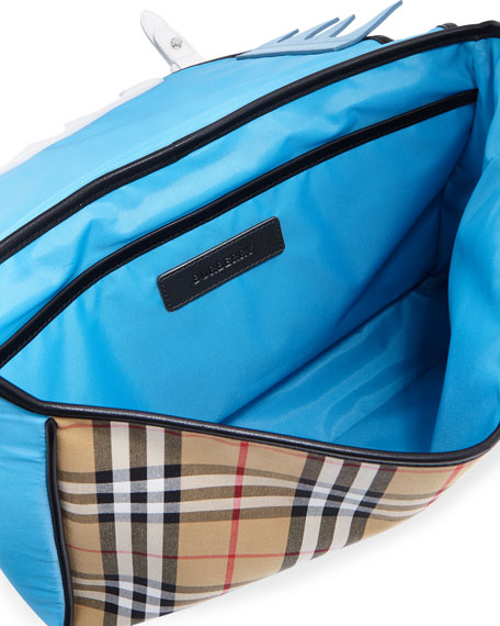 Kids' Spike Canvas Check Backpack