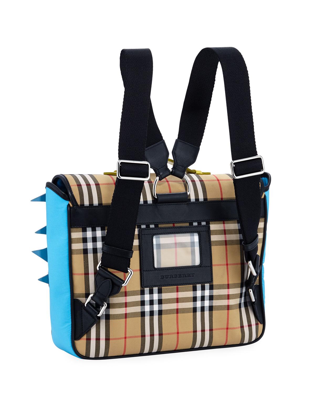 dc095de110712 Burberry Canvas Check Backpack Camel- Fenix Toulouse Handball