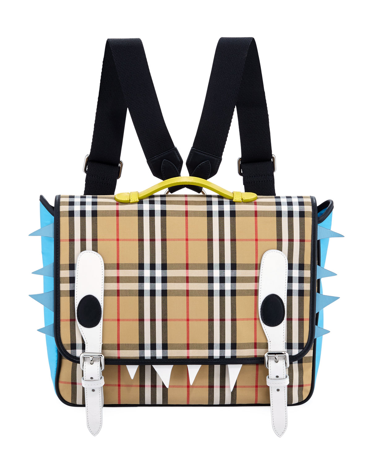 Burberry Kids Spike Canvas Check Backpack Neiman Marcus