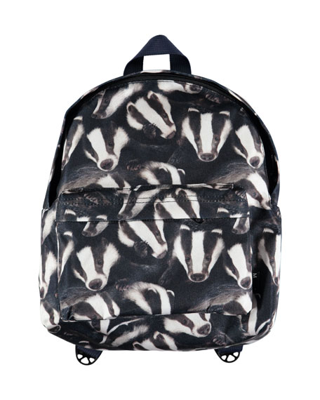 Molo Kids' Badger-Print Backpack