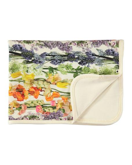 Neala Floral-Print Baby Blanket