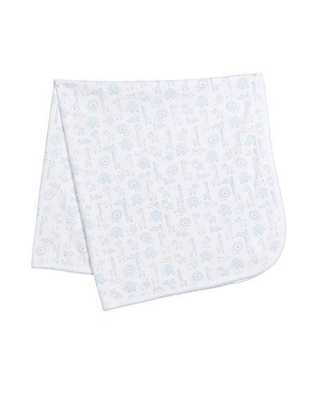Kissy Kissy Jungle Out There Pima Baby Blanket
