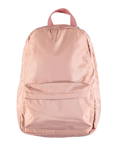 Kids' Solid Padded Contrast-Straps Backpack