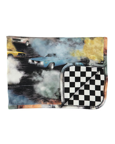 Niles Cars Smoke & Checkered Blanket