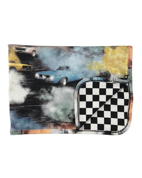 Niles Cars Smoke & Checkered Blanket