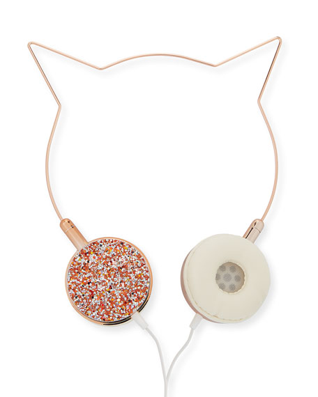 Kids' Kitty Crystal-Trim Headphones