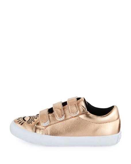 Winking Eye Metallic Sneaker, Kids