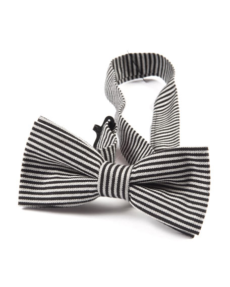Boys' Twill Striped Bow Tie