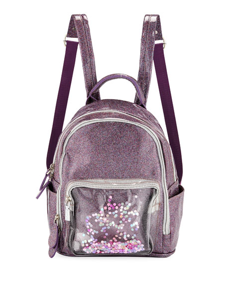 Bari Lynn Girls' Sparkle Backpack w/ Floating Confetti