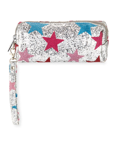 Bari Lynn Shimmer Star Pencil Case