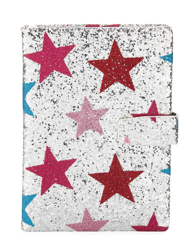 Girls' Glittered Star Notebook