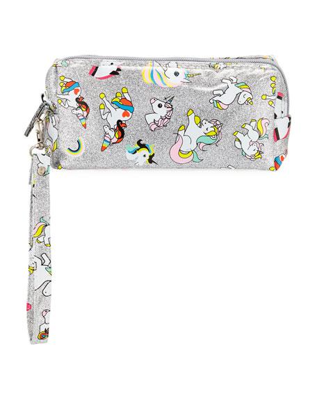 Bari Lynn Glitter Unicorn Pencil Case