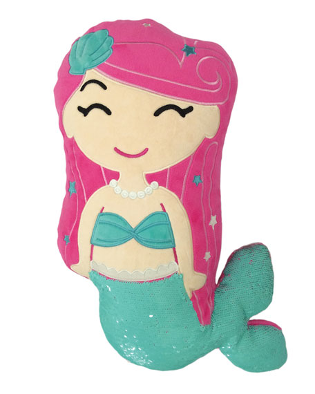 Iscream Kids' Sequin Mermaid Pillow