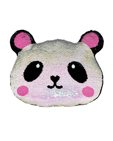 Iscream Kids' Sequin Panda Pillow