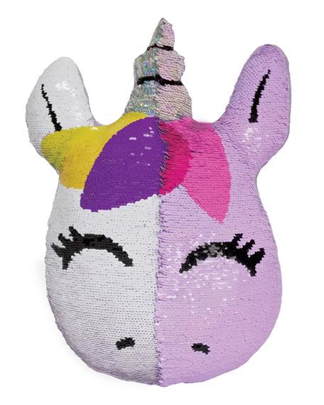Kids' Sequin Unicorn Pillow