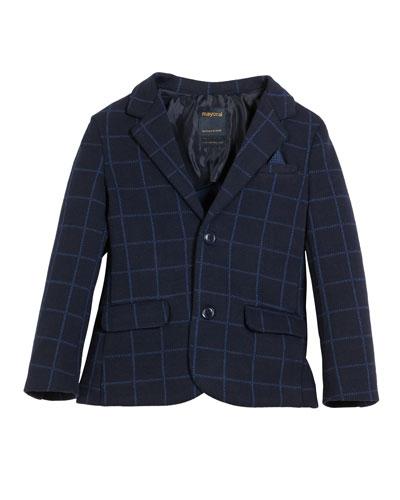 Tailored Windowpane Blazer   Size 3-7