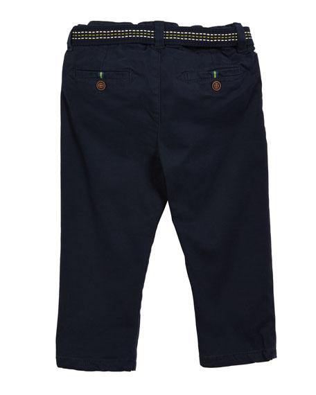 Mayoral Herringbone Straight-Leg Pants, Size 3-24 Months