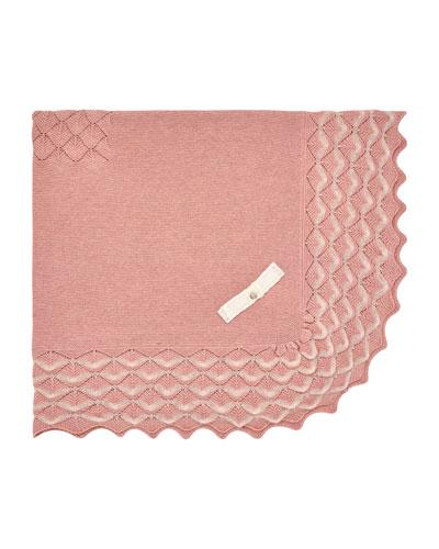 Baby Blanket w/ Raised Knit Border