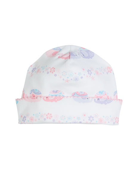 KISSY KISSY Eloquent Elephants Pima Baby Hat in Pink