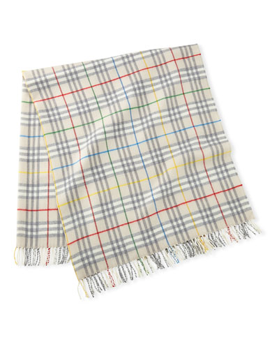 Wool Check Baby Blanket