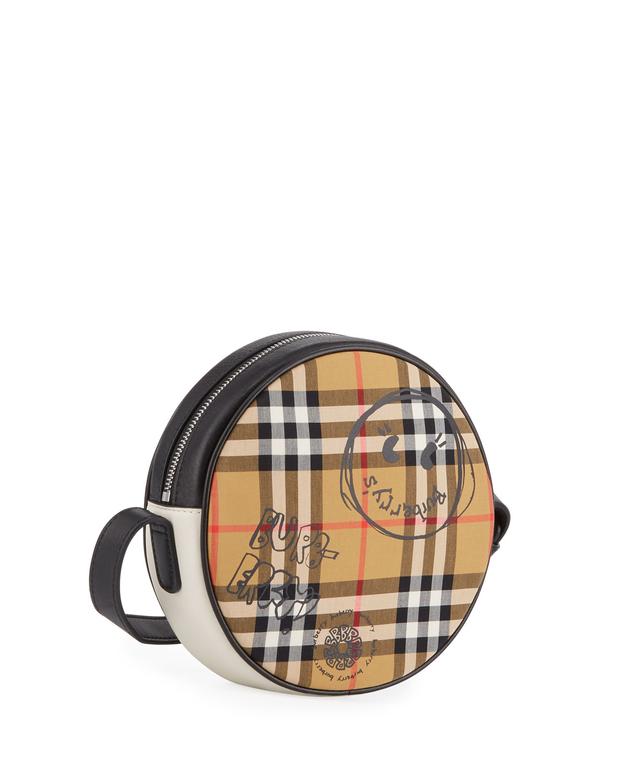 361bff3634 Burberry Girls' Round Vintage Check & Cartoon-Print Crossbody Bag | Neiman  Marcus