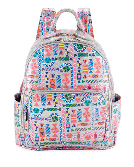 Girls' Candy-Print Shimmer Backpack in Multi