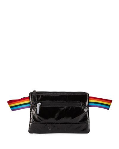 Girls' Faux-Leather Rainbow-Strap Belt Bag