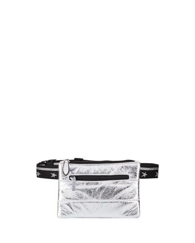 Girls' Metallic Faux-Leather Belt Bag
