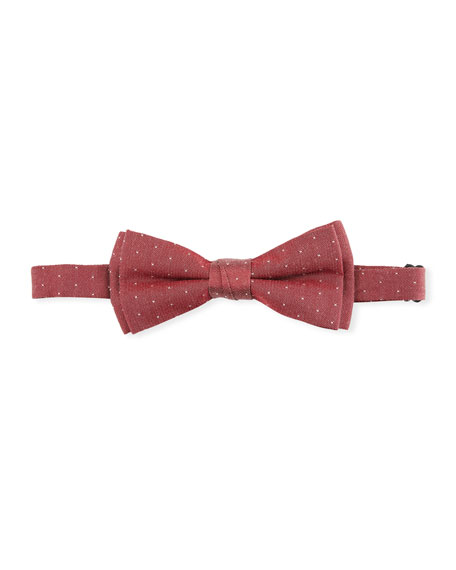 Boys' Pin-Dot Bow Tie in Red