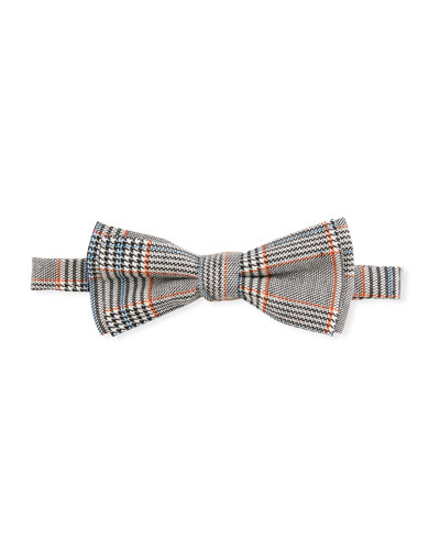 Boys' Gentleman Houndstooth Plaid Bow Tie