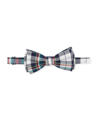 Boys' Recital Herringbone Plaid Bow Tie